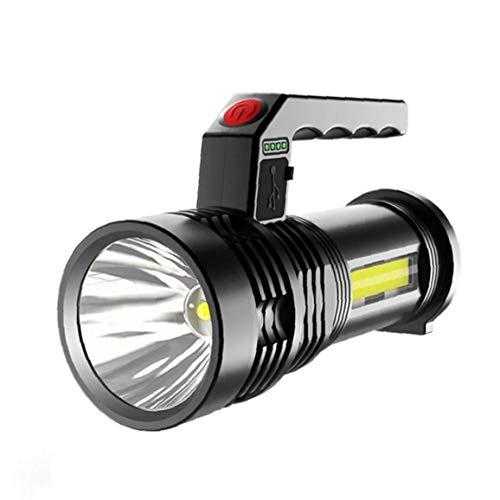 Torche LED lampe de poche rechargeable Camping Torche Portable Searchlight Torch USB Charge P50 Projecteur étanche pour pêche Lanterne Noir