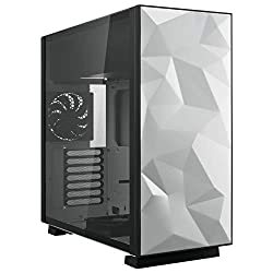 in budget affordable Rosewill ATX Mid Tower gaming computer case with tempered glass and fan, up to 240mm AIO and …