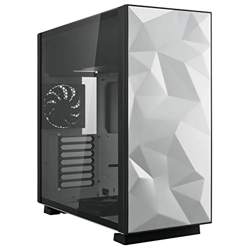 Rosewill ATX Mid Tower Gaming Computer Case with Tempered Glass and Fans, Up to 240mm AIO and 440mm VGA Support, EATX Support, Top Mount PSU & HDD/SSD, White - Prism S-LITE