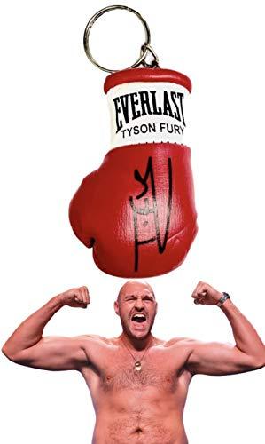 boxing memorabilia Signiert Mini Boxhandschuh Schlüsselanhänger Tyson Fury