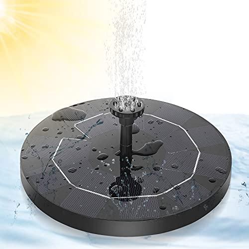 Winload Fontana Solare da Giardino, 3.5W Pompa Solare Laghetto con Batteria, Pompa ad Acqua Solare Circolare con 6 Ugelli, Fontane Energia Solare Galleggiante per Bagno per Uccelli, Acquario, Stagno