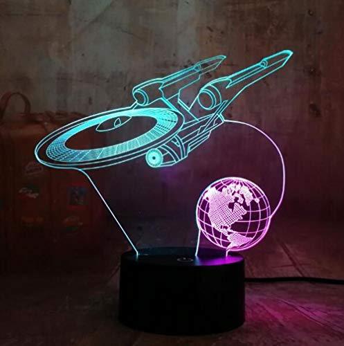 Lámpara creativa de ilusión 3D, lámpara de noche con 7 colores cambiantes, decoración para dormitorio/adultos, Navidad, Halloween, base de abdominales, alimentada por USB, ojos de ahorro de energía, apto para sala de estar, bar o fiesta