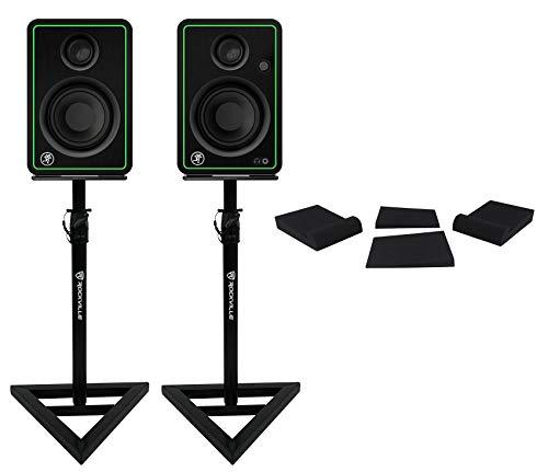 speaker stands for studios 2) Mackie CR3-X 3