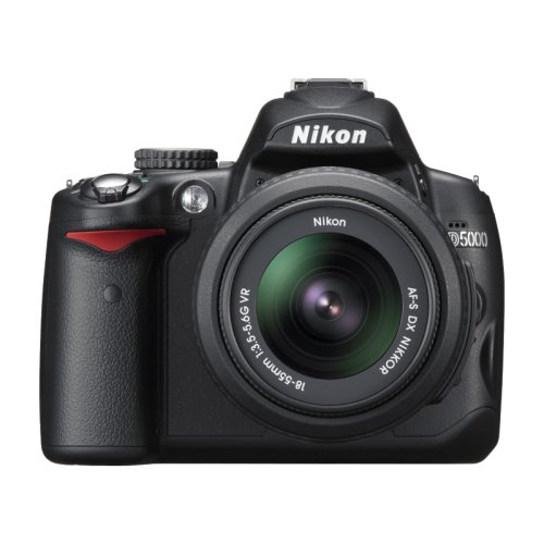 Nikon D5000 SLR-Digitalkamera (12 Megapixel, Live-View, HD-Videofunktion) Kit inkl. 18-55mm VR + 55-200mm VR Objektiv (bildstab.)