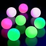 8 Pieces Fluorescence Glowing Sticky Balls That Gets Stuck on The Roof Luminous Stress Ball for Decompression Relax Toy Teens and Adults (Pink, Yellow, Purple, White,2.6 Inches)