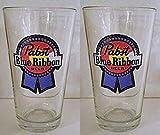 Pabst Blue Ribbon Pint Glass - Set of 2