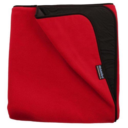 Mambe Large Super Extreme Weather Warm and Thick 100% Waterproof/Windproof Outdoor Blanket and Stadium Blanket with Premium Stuff Sack (Large, Red) Made in The USA