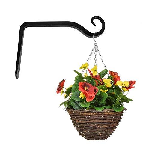 1 pieza estante para cestas colgantes, estante para plantas, jardín de hierro de metal, estante para colgar en interiores y exteriores, gancho para decoración, gancho para canasta colgante