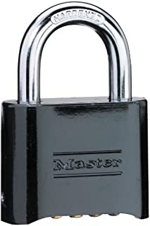 Master Lock Set-Your-Own Combination Padlock, Die-Cast, Black #178D (Pack of 4)