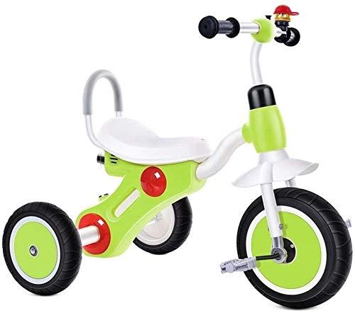 Xiaoyue Fahrräder Tricycle 2~8 Jahre alt Pedal Fahrrad Indoor Kinder Vorschul Fahrrad Kinder Spielzeug Fahrrad-Sicherheits-Fahrrad-Pedal (Farbe: Gelb, Größe: 74x50x57cm) lalay