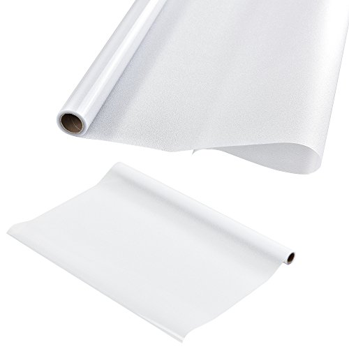 casa.pro Sichtschutzfolie für Fenster Statisch haftend 50cm x 1m Sichtschutz fürs Bad Milchglasfolie für die Tür Fensterfolie Blickdicht Selbstklebend