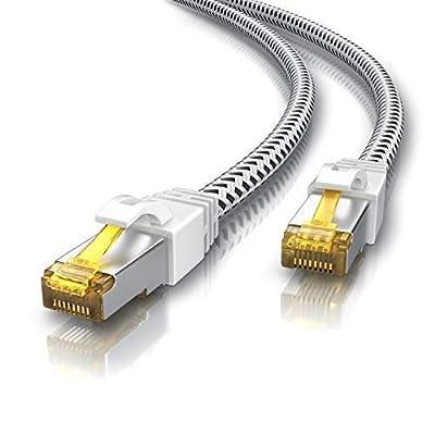 CSL - Cable de Red Gigabit Ethernet LAN, 0,25 m, Revestimiento de algodón, 10000 Mbit s, Cable de Pares Trenzados, Cable… 3