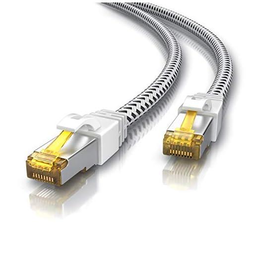 CSL - Cable de Red Gigabit Ethernet LAN, 0,25 m, Revestimiento de algodón, 10000 Mbit s, Cable de Pares Trenzados, Cable… 1