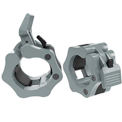 MoKo Barbell Clamps Collars, Quick Release Pair of Locking 2 inch 50mm Professional Olympic Weight Barbell Locks Collar Clips Great for Workout,...