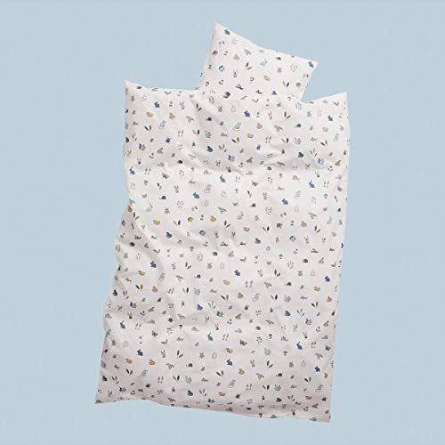 Leander babybeddengoed 100x135cm - Origineel van Leander geschikt voor Leander, Linea en Luna babybed - Kleur: dusty blue