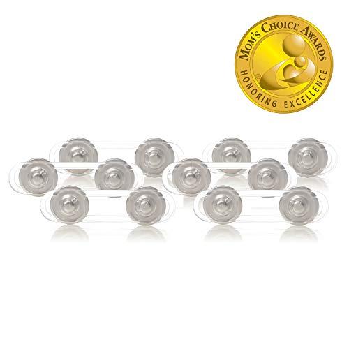 Dreambaby Style F1108 Flexibele kinderbeveiliging kastbeveiliging schuifladebeveiliging kort lijmen, zilver