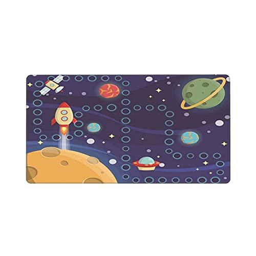 Alfombrilla de ratón Grande para Juegos,Juego de Actividades para niños Encantador Mantel Individual para el Espacio.,Base de Goma Antideslizante,Adecuada para Jugadores,PC y portátil(80 x 30cm)
