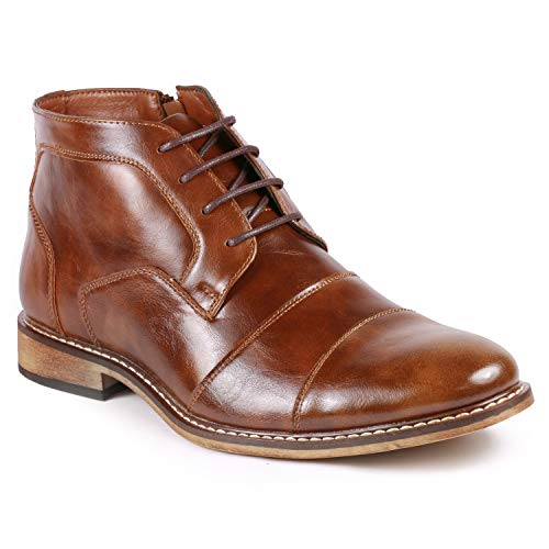 Metrocharm MC147 Men's Cap Toe Formal Dress Casual Oxford Ankle Boot