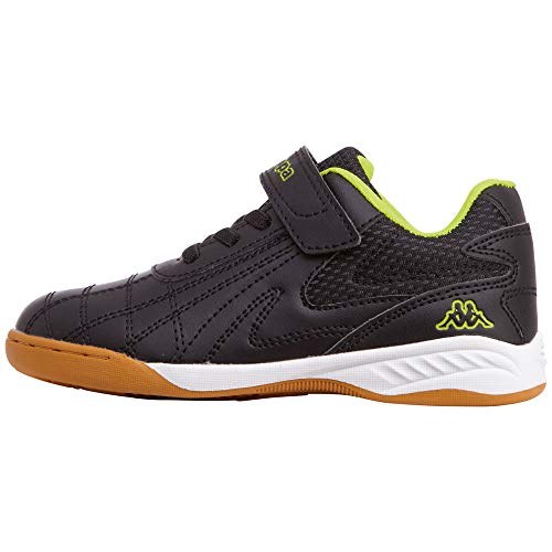 Kappa Furbo Kids, Zapatillas, Negro (Black/Yellow 1140), 31 EU