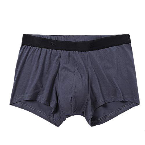 Nobrand Herren Boxershorts, atmungsaktiv, einfarbig, Baumwolle, weich und bequem Gr. M, grau