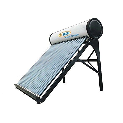 PANNELLO SOLARE TERMICO ACQUA CALDA ACCIAIO INOX TUBI SOTTOVUOTO CIRCOLAZIONE NATURALE - MOD. PRO (240 Litri - Professional)