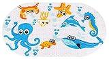 Ruiuzi Cartone Animato Bambini Aspirazione Antiscivolo PVC Tappetino da Bagno Stuoia di Bagno di Sicurezza Cuscinetto Antiscivolo per Vasca da (Octopus, 39 x 69 cm)