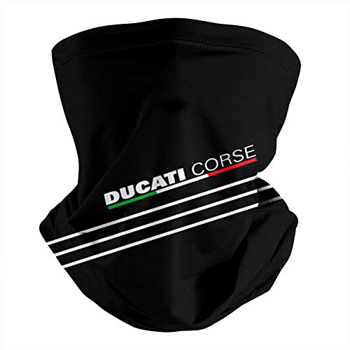 maichengxuan Ducati-Corse-Black- Mehrzweck-Halsmanschette Gesichtsschal für Männer Frauen Sturmhauben für den Außenbereich