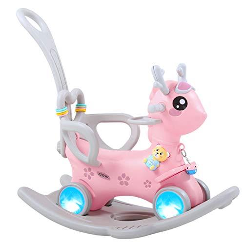 ZHKXBG Baby Schaukelpferd, Kinder Schaukel, Kind Schaukel Tier, Indoor Outdoor Baby Schaukelstuhl, Geschenk für 1-3Y,Rosa,Rocking Horse