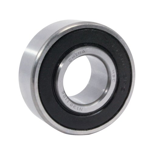 WJB 2204-2RS Self Aligning Ball Bearing, ABEC-1, Double Sealed, Steel, Metric, 20mm Bore Diameter, 47mm Outer Diameter, 18mm Width, 9000 rpm, 745 lbs Static Load Capacity, 2830 lbs Dynamic Load Capacity