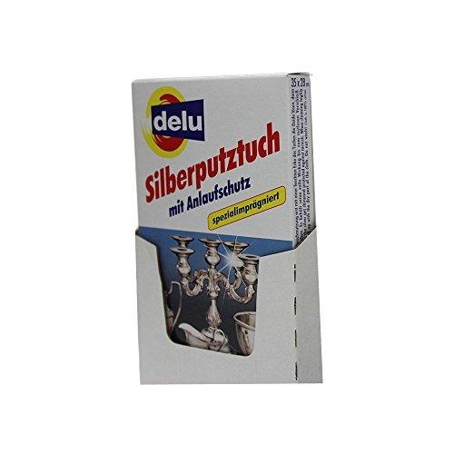 Delu Plata Gamuza Limpiadora Con Protección De Arranque Para Plata Cubiertos etc.