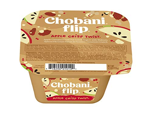 Chobani Apple Crisp Twist Flip Greek Yogurt, 5.3 Ounce -- 12...