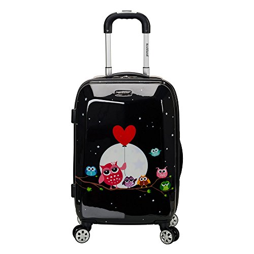 Rockland 20 Inch Polycarbonate Carry On, Night Owl