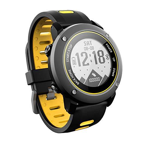 QKa Smart Watch, GPS Running Orologio Tapis roulant Walking Marathon ip68 100 M Deep Fitness Tracker Allenamento Fitness Compatibile con iOS e Android,Yellow