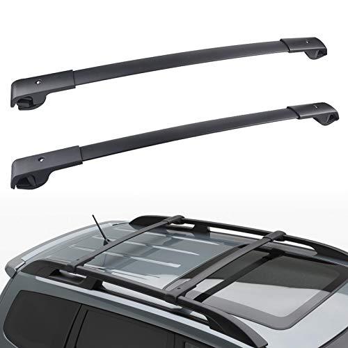 JDMON Compatible with Roof Rack Cross Bar Subaru Forester 2014-2021/Crosstrek 2013-2019/Impreza 2012-2019 with Side Rails, Aluminum Luggage Rack Crossbar for Rooftop Cargo Bag Carrier Kayak Canoe Bike