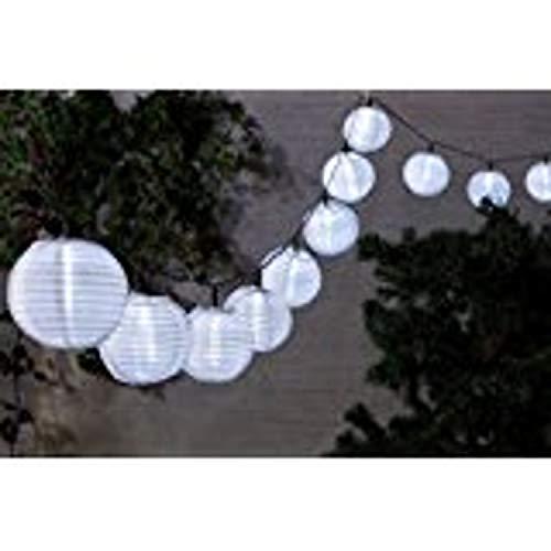FHS Solar Lampionkette mit 40 weißen LED