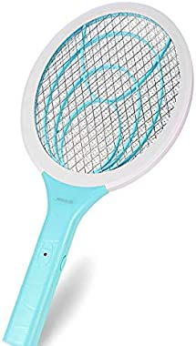 DOLYOALO Bug Zapper Electric Fly Swatter Handheld 3000volt Mosquito Fly Killer and Bug Zapper Racket for Indoor and Outdoor P