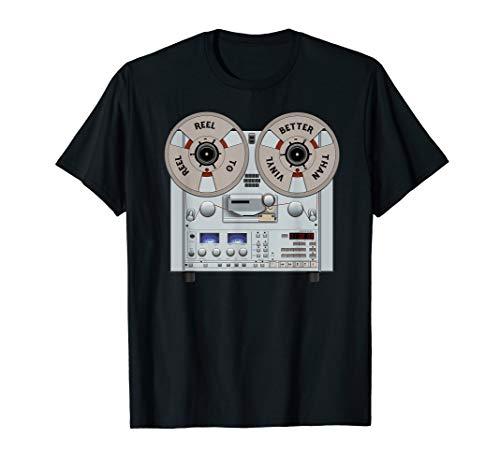 Reel to Reel Tonbandgerät ist besser als Vinyl T-Shirt