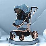 Cochecito de bebé Función de rotación 360, Cochecito de bebé Cochecito de bebé Hot Mom, Sistema de Viaje Asiento Infantil (Color: Azul)