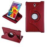 COOVY® 2.0 Cover für Samsung Galaxy TAB S 8.4 SM-T700 SM-T701 SM-T705 Rotation 360° Smart Hülle Tasche Etui Hülle Schutz Ständer | rot