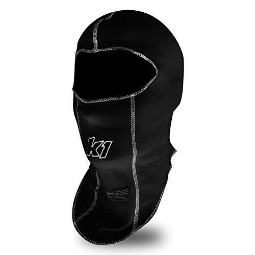 K1 Race Gear Single Layer Nomex Head Sock/Balaclava (Black) (26-SLH-N)