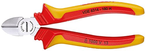 Gedore VDE 8314-160 H - Alicate de corte diagonal VDE con aislamiento de cubierta 160 mm