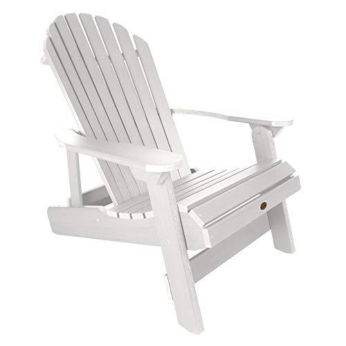 Highwood AD-KING1-WHE Hamilton Folding and Reclining Adirondack Chair, King Size, White