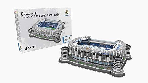 Giochi Preziosi- 34451-3D Stadium Puzzle Santiago Bernabeu, bunt