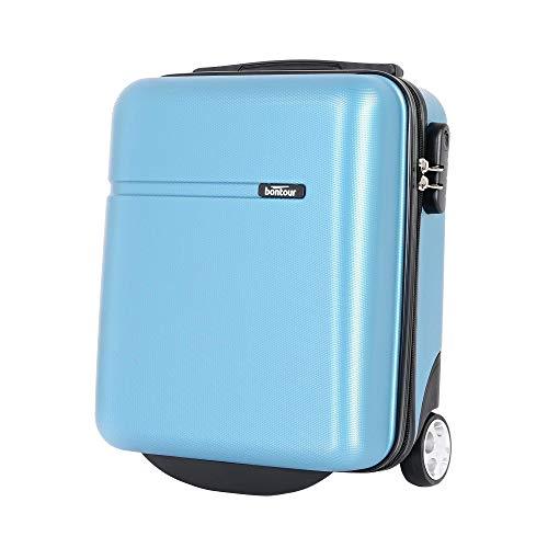 Bontour CabinOne WizzAir Handgepäck 40x30x20 cm 2 Rollen Trolley Bordgepäck Koffer (Eisblau)