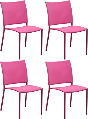 Proloisirs Chaise de Jardin Bonbon pour Enfant (Lot de 4)