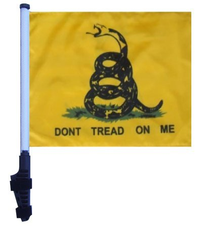 Don't Tread ON ME Golf Cart Flag with SSP Flags EZ On & Off Bracket