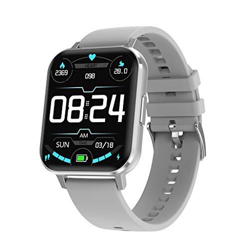 SweetWU DTX - Pulsera de reloj inteligente impermeable, monitor de ritmo cardíaco, monitor de sueño, cinta gris