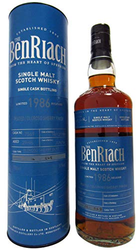 Photo of BenRiach – Peated Oloroso Sherry Single Cask #7569-1986 29 year old Whisky