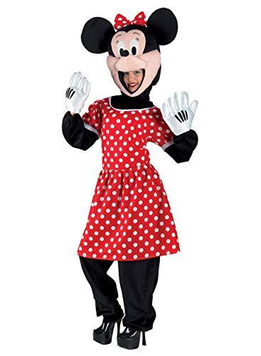 PRESTIGE & DELUXE Costume Vestito Carnevale Adulto  Minnie TOPOLINA  Taglia Unica Mascotte
