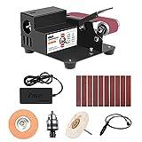 Montloxs Mini lucidatrice elettrica fai-da-te da 250 W Rettificatrice rapida multifunzione Smerigliatrice angolare fissa Regolazione della velocità a 7 livelli Rimozione della ruggine del metallo/Lu